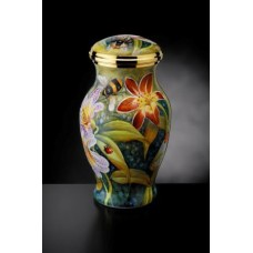 Lilies and Bumble Bees Vase